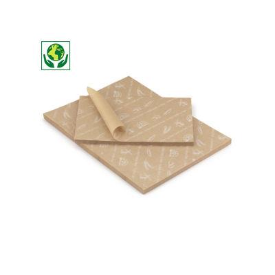 Papier alimentaire mousseline imprimé brun en rame