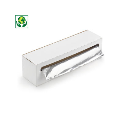 Papier aluminium en boîte distributrice