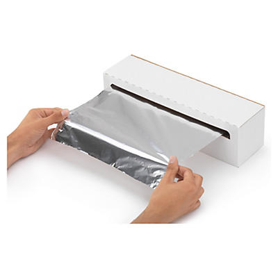 Papier aluminium en boîte distributrice##Aluminiumfolie