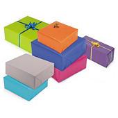 Papier cadeau kraft couleur lumière