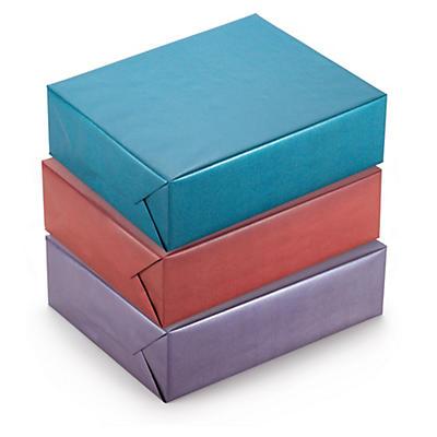 Papier cadeau kraft irisé##Cadeaupapier van gemetalliseerd kraft