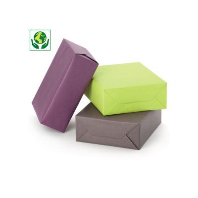 Papier cadeau kraft recyclé couleur