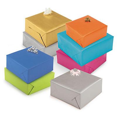 Papier cadeau en kraft uni##Buntes Kraftpapier auf der Rolle