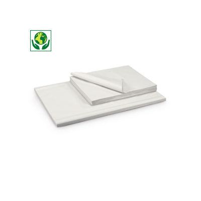 Papier d'emballage blanc en feuille 100 % recyclé