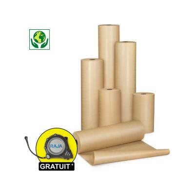 Papier d'emballage brun en rouleau, qualité économique 60 g/m²##Bruin pakpapier op rol, voordelige kwaliteit 60 g/m²