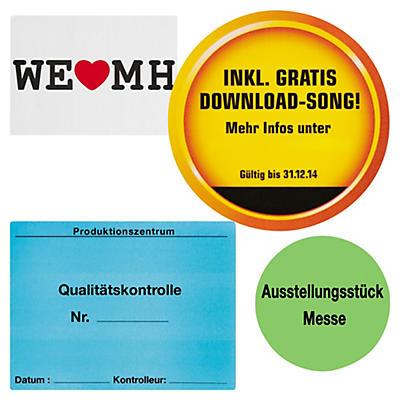 Papier-Etiketten auf Bögen, personalisiert