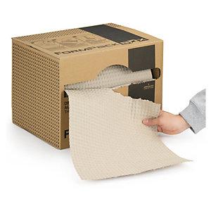 Papier gaufré recyclé en boîte distributrice