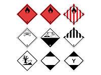Papier - Gefahrenetiketten