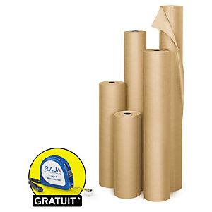 Papier kraft naturel en rouleau Super Qualité industrielle 90 g/m² en rouleau RAJA