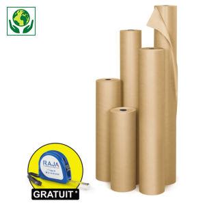 Papier kraft naturel en rouleau Super Qualité standard 70 g/m² en rouleau RAJA