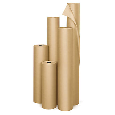 Papier kraft naturel en rouleau Super Qualité industrielle 90 g/m² RAJA en rouleau