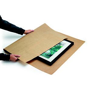 Papier kraft naturel Super 70g - Ramette de 250 feuilles 80 x 120 cm - Marron