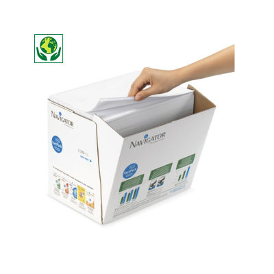 Papier Navigator Univerval en boîte distributrice##Printpapier Navigator Universal in verdeeldoos
