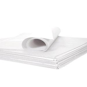 Papier de soie blanc en rame, 480 feuilles 75 x 50 cm