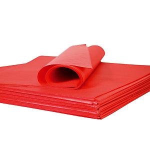 Papier de soie rouge en rame, 480 feuilles 75 x 50 cm