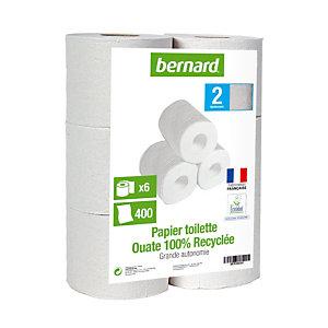 Papier toilette grande autonomie  Bernard, 30 rouleaux