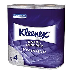 Papier toilette Kleenex 4 épaisseurs, 24 rouleaux