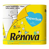 Papier toilette Renova Hypersoft, colis de 9 rouleaux##Toiletpapier Renova Hypersoft, doos van 9 rollen