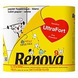 Papier toilette Renova Ultrafort, colis de 9 rouleaux
