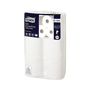 Papier toilette Tork Premium 200 doux, colis de 96 rouleaux