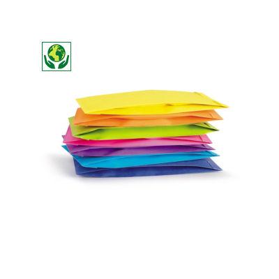 Papierbeutel in frischen Farben