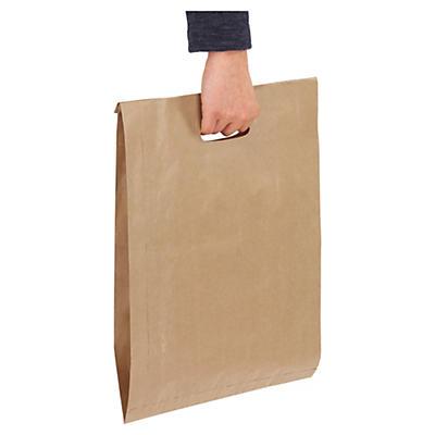 Sachet kraft à poignées découpées##Papierbeutel mit Griffloch