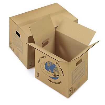 Papkasse med håndtag - Enkelt bølgepap