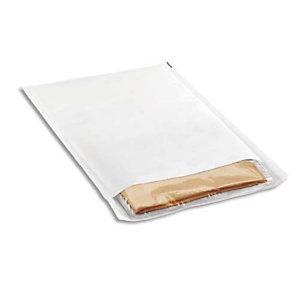 AUTRE Paquet de 10 pochettes matelassées en kraft Blanches bulles format 35 x 47 cm