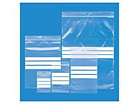 Paquete surtido de 1000 bolsas de plástico con cierre zip y franjas blancas 50 micras RAJAGRIP Eco