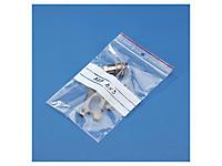 Paquete surtido de 500 bolsas de plástico con franjas blancas y cierre zip 100 micras RAJAGRIP Super