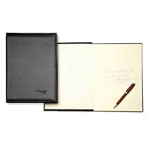 PARDO Autograph 6876 Libro porta firmas  tapa acolchada 305x210 mm negro