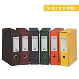 PARDO Box de 1 archivador de palanca, Folio, Lomo 70 mm, Capacidad 500 hojas, Cartón recubierto de PVC, Amarillo