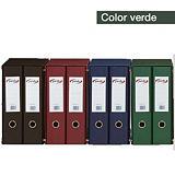 PARDO Box de 2 archivadores de palanca, Folio, Lomo 70 mm, Capacidad 500 hojas, Cartón recubierto de PVC, Verde