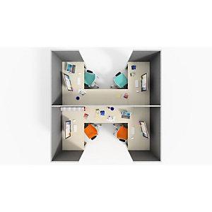 Parete divisoria fonoassorbente, 60 x 3,5 x 120 cm, Grigio allumino