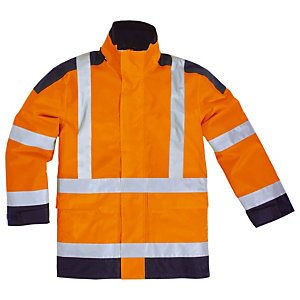 Parka haute visibilité orange Delta Plus, taille XL
