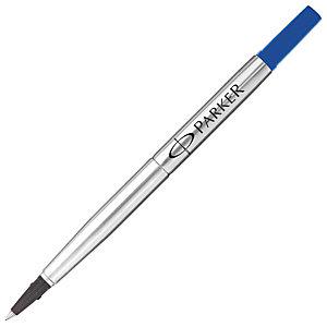 Parker Quink Recambio para bolígrafo roller, punta mediana de 0,7 mm, tinta azul