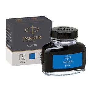 Parker Quink Tinta de recambio para estilográfica, 57 ml, azul