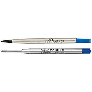Parker QuinkFlow Refill per penne a sfera, Punta fine, Inchiostro nero