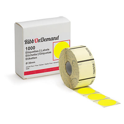 Pastille adhésive ø 35 mm couleur pour imprimante RibbOnDemand