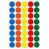 Pastille adhésive permanente couleurs assorties AGIPA