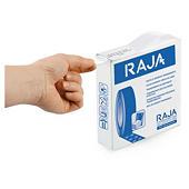 Pastille adhésive transparente en plastique RAJA