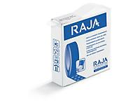Pastille adhésive transparente prédécoupée en boîte distributrice RAJA