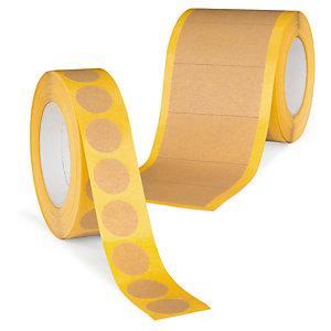 Pastille et bande adhésives en papier