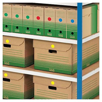 Pastille de couleur adhésive permanent en planche A5##Ronde gekleurde signaaletiketten