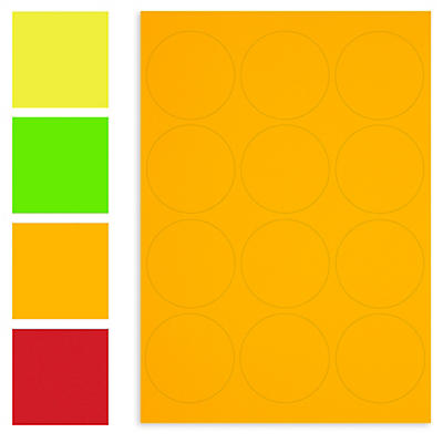 Pastille fluo##Fluorescerend rond etiket