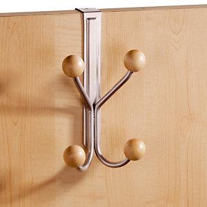 Patère de porte gris 4 crochets