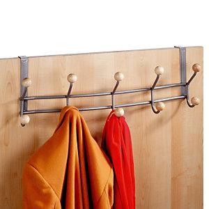 Patères de porte gris 10 crochets