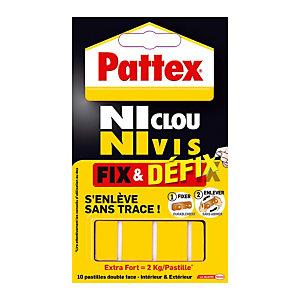 Pattex Adhésif FIX DEFIX - Paquet de 10