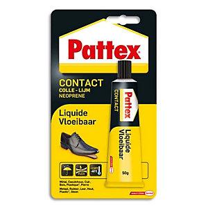 PATTEX Colle Contact Liquide pour assemblage et placage multi-matériaux. Tube 50g sous blister