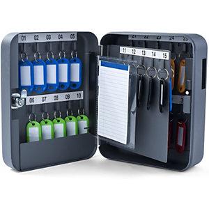 Pavo Armario para llaves, capacidad 30 llaves, color gris antracita